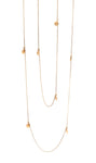 22kt Gold Wrap Necklace Small Discs Soundwaves