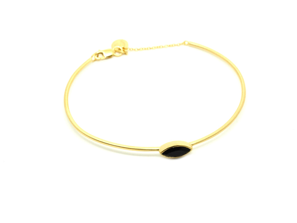 Willow Onyx Bangle