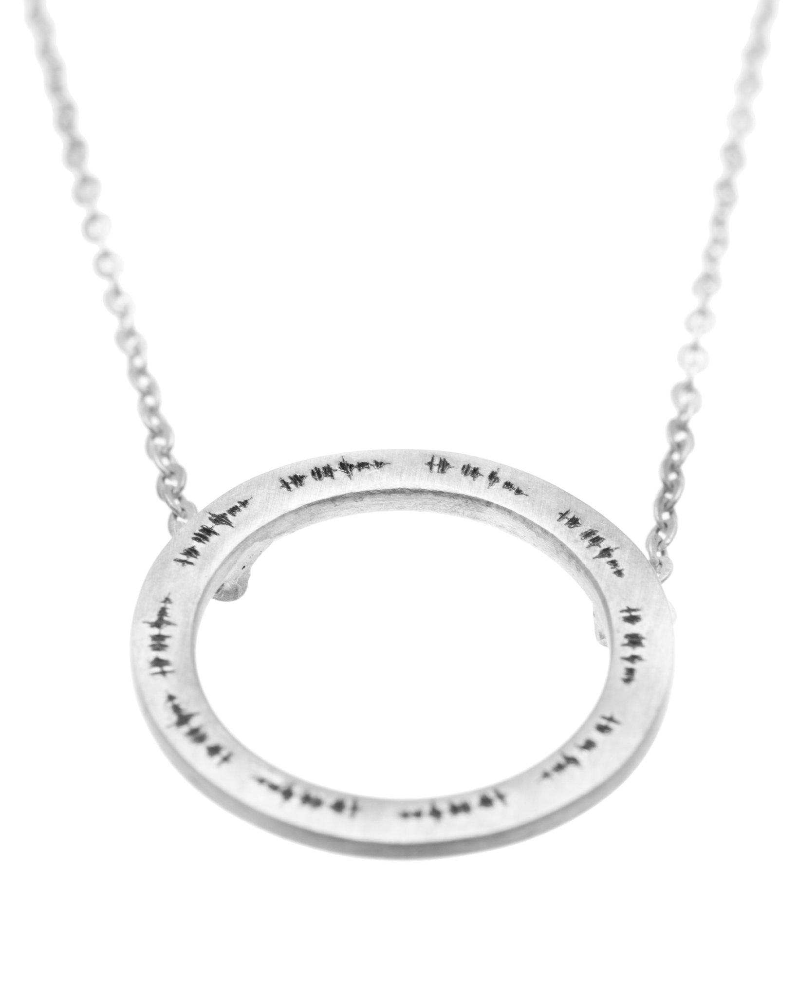 Sterling Silver Choker Disc Necklace