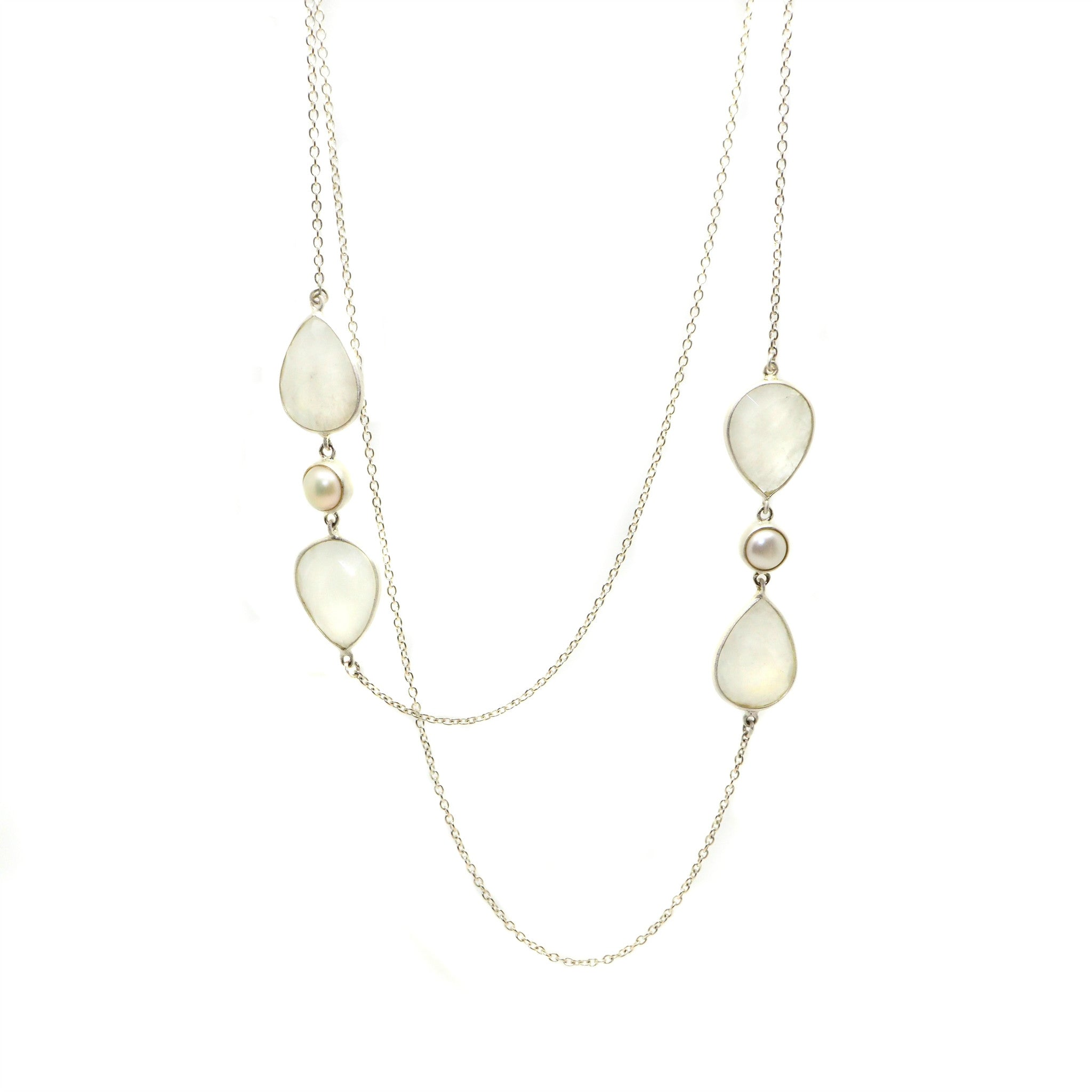 Moonstone Wrap Necklace