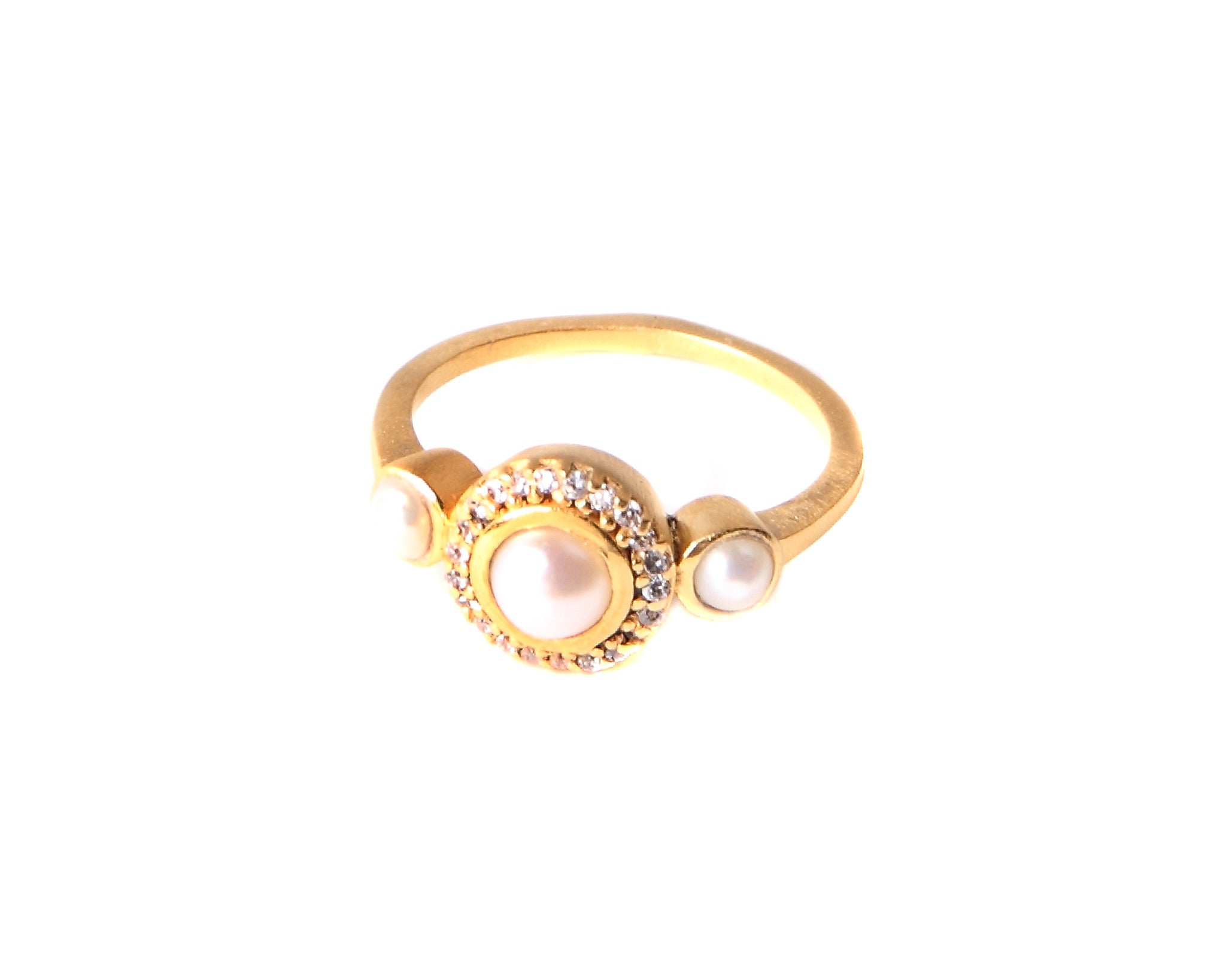 Pearl Cluster Ring