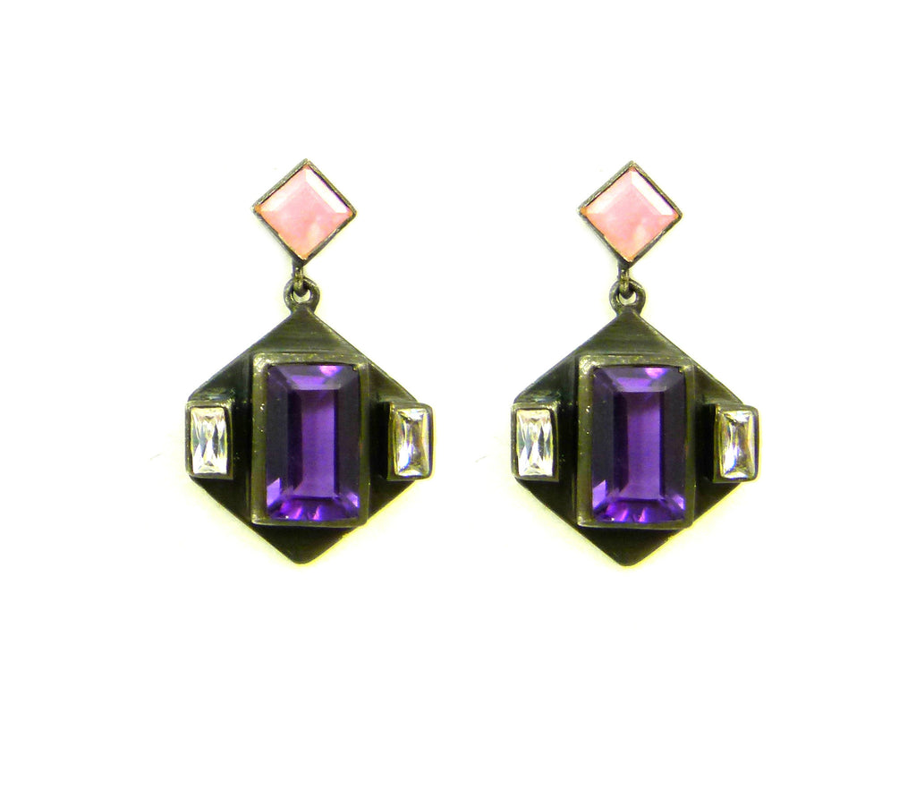 Purple Quartz Earring
