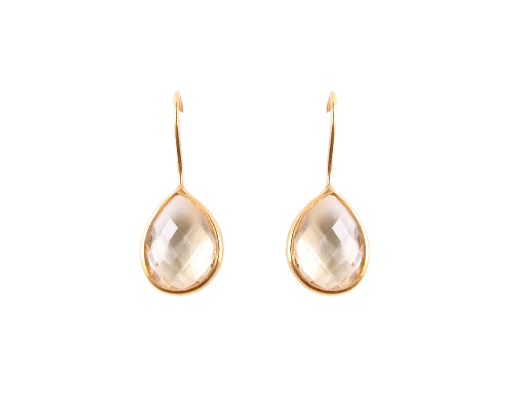 22KT Gold Plated Citrine Drop Earrings from the Raindrop Collection