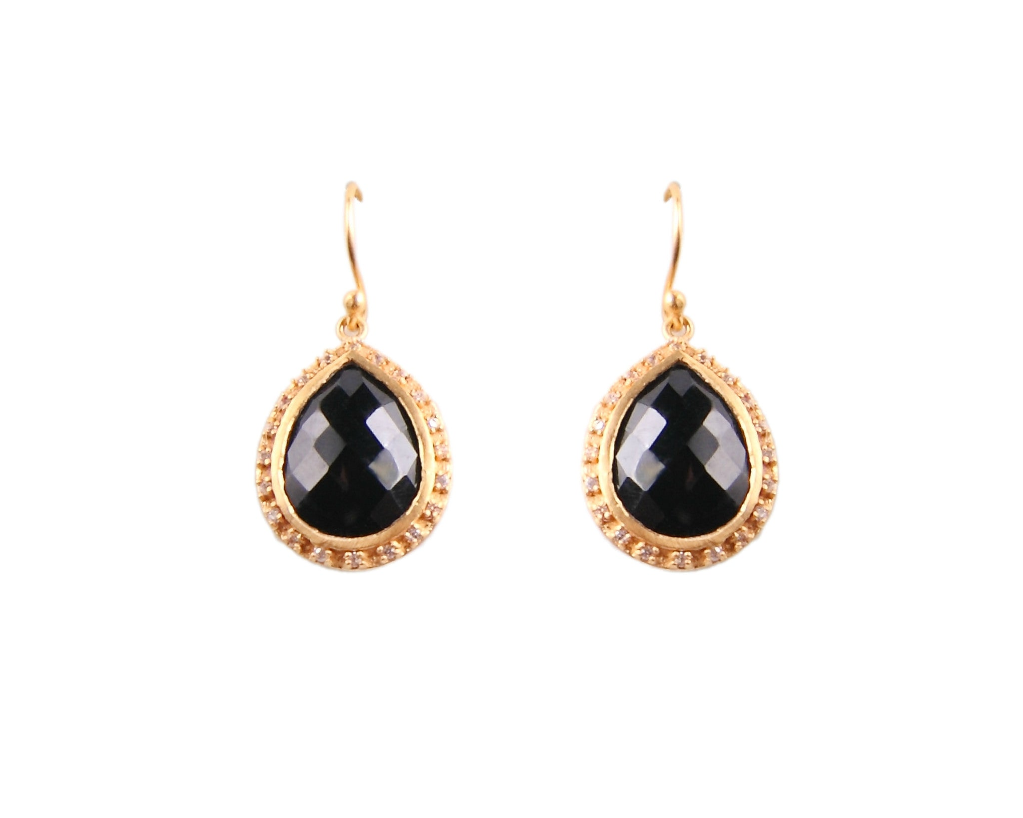 Black Onyx Crystal Earrings