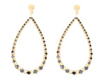Blank Onyx Gold Plated Raindrop Earings