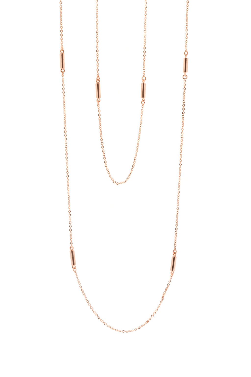 Ogham Engraved Rose Gold Wrap Necklace