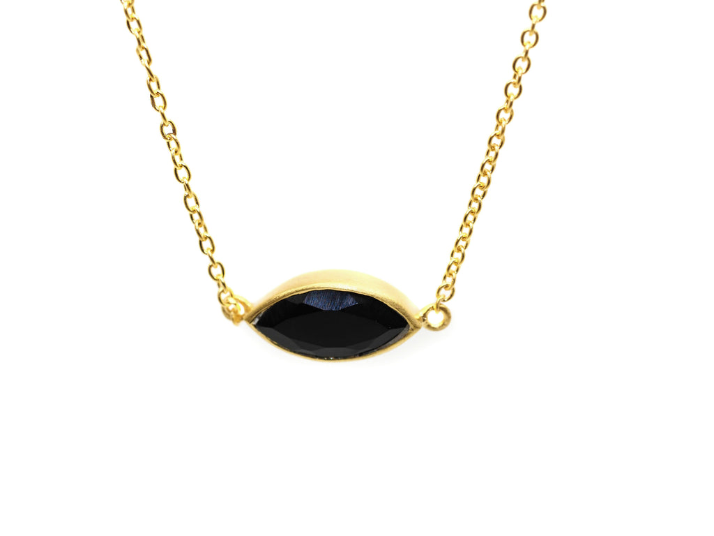 Willow Single Onyx Necklace