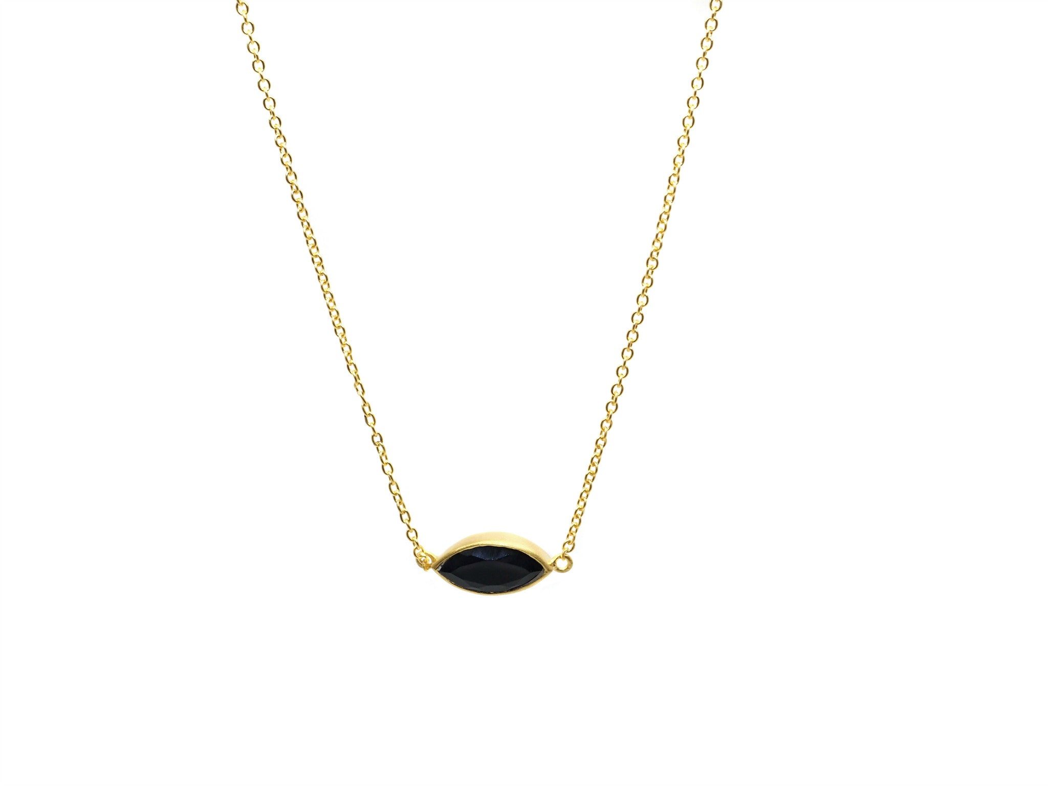 Onyx Gold Necklace