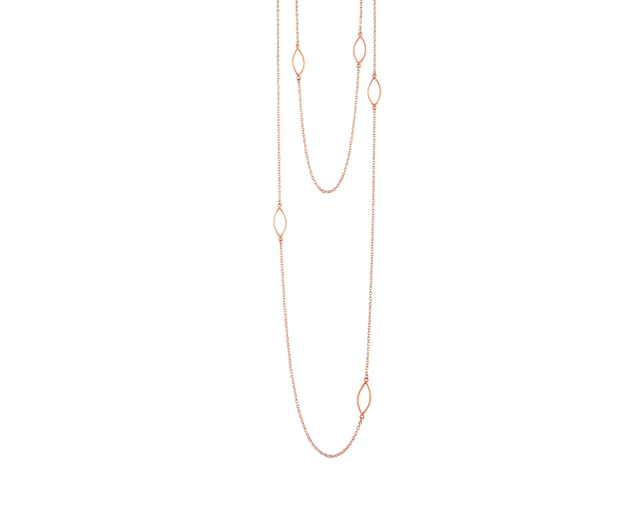 Rode Gold Wrap Long Necklace
