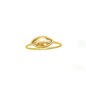 Citrine Gem Gold Ring