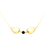 Citrine Gem Gold Necklace