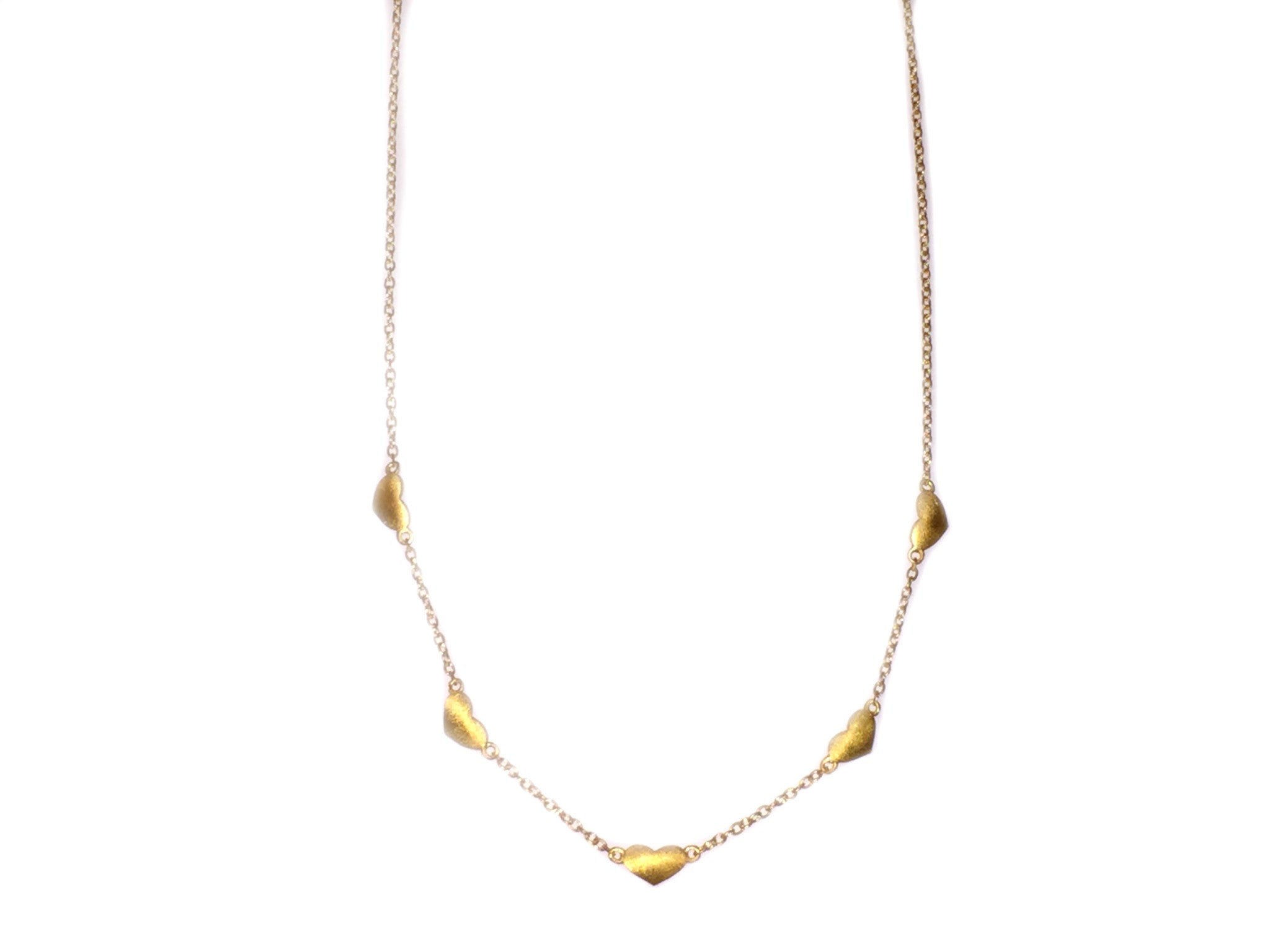 Gold Multiple Hearts Necklace