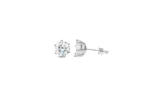 """Pretty Party"" Earring 6 Prong CZ"
