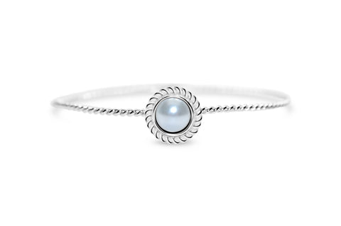 Stia Power of Attraction Bracelet Rope Bezel White Pearl