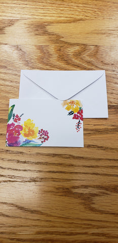 Enclosure Card with Envelope in Floral Pattern