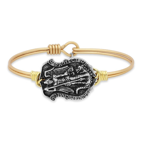 Saint Michael Bangle Bracelet