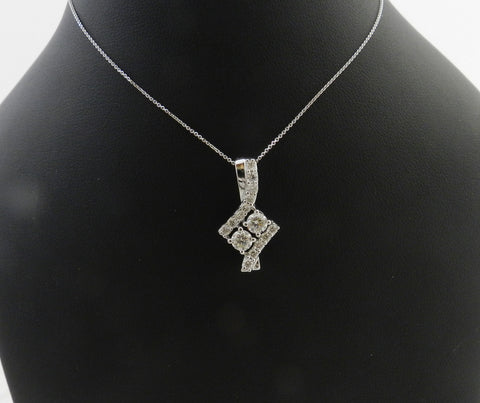 two stone diamond necklace