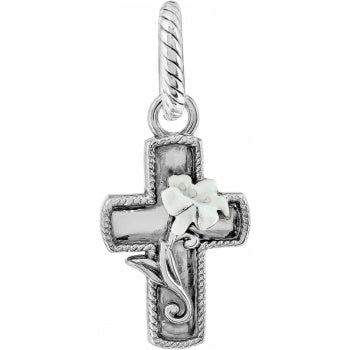 Easter Lily Cross Charm