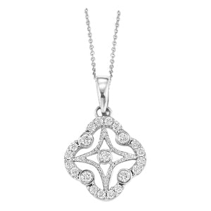 Diamond Pendant Necklace 1/4 ctw