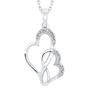 Sterling Silver Double Twist Heart