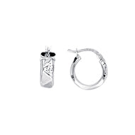 Zig Zag Tube 10MM Baby Hoop Earrings