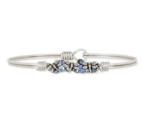 Dragonfly Medley Bangle Bracelet in Silver