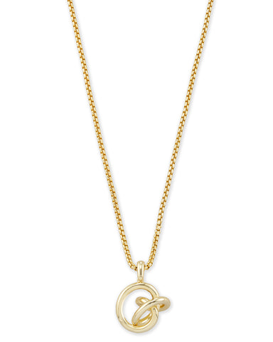 Kendra Scott Presleigh Love Knot Pendant Necklace In Gold