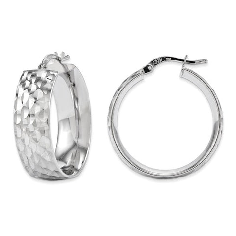 Sterling Silver Diamond-Cut Earrings