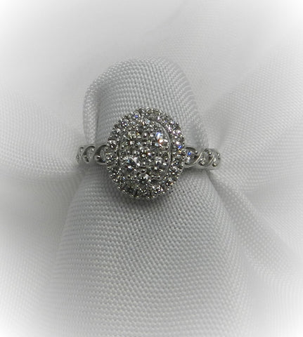 Oval Shaped Cluster Engagement Ring