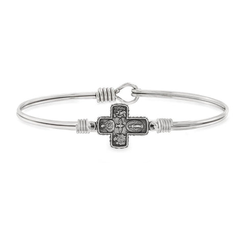 Luca & Danni 4 Way Medal Bangle Bracelet