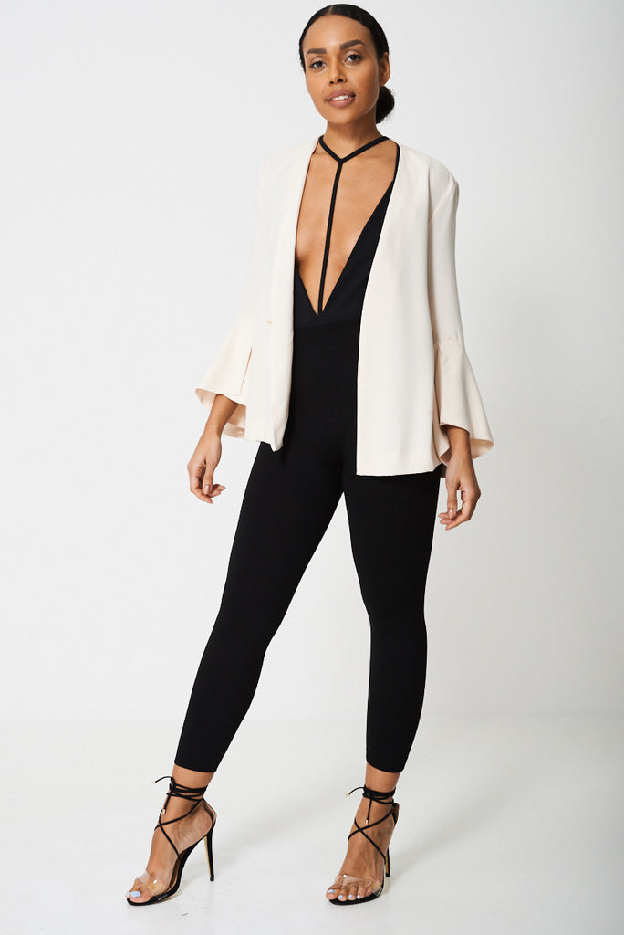 Cream Bell Sleeve Blazer Ex-branded