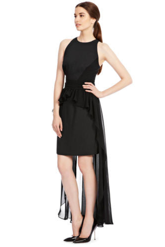 Coast Black Carol Anne Cocktail Party Dip Back Maxi Dress Size 10 - YourMO