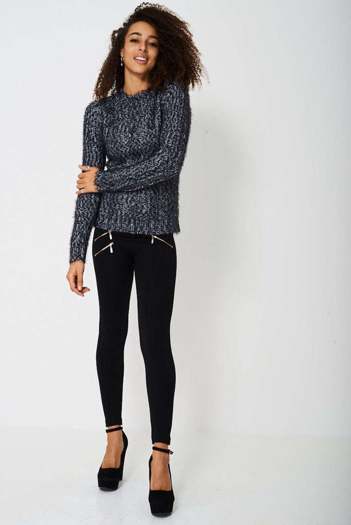 Chunky Jumper In Fluffy Rib Ex-branded