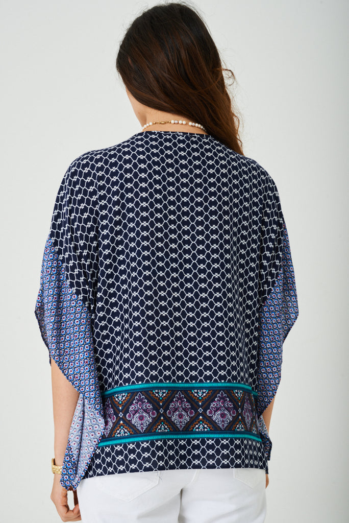 Casual Top With Kimono Sleeve