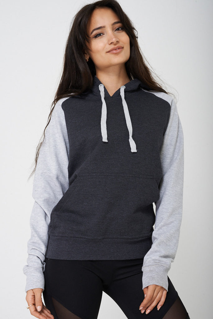 Active Color Block Jumper With Hoodie Ex Brand