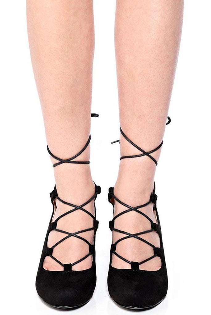 Black Lace Up Wedge-black-uk3-eu36