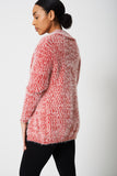 Red Cardigan In Fluffy Yarn Ex-branded