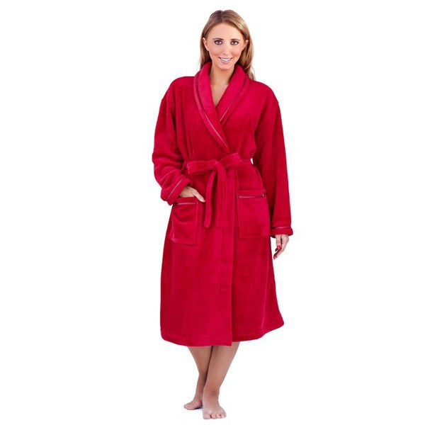 Super Soft Long Robe in Teal or Red Sizes 8 - 22