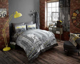 Modern New York Inspired Duvet Set in a Variety of Colours Double or King