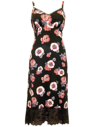 Marks & Spencers M&S Black Pink Floral and Lace Dress Size 10 -14 - YourMO