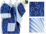 Ladelle Cubby House Kids 4 Piece Blue Star Chef Set, Chef Hat, Tea Towel, Apron & Case