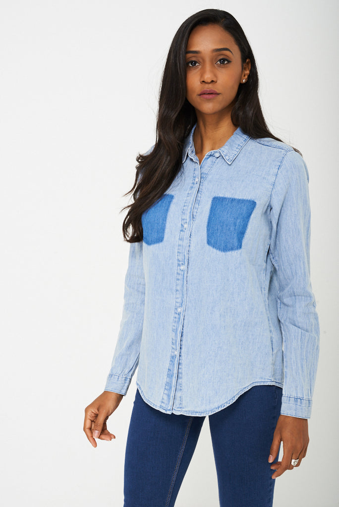 Bik Bok Denim Blue Shirt