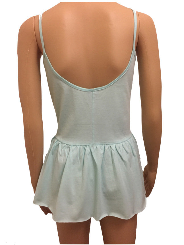 Peplum Cotton Cami Top In Ice Blue Mint from ASOS Size 10