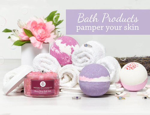 Imperial Candles Bath Bomb with Jewel