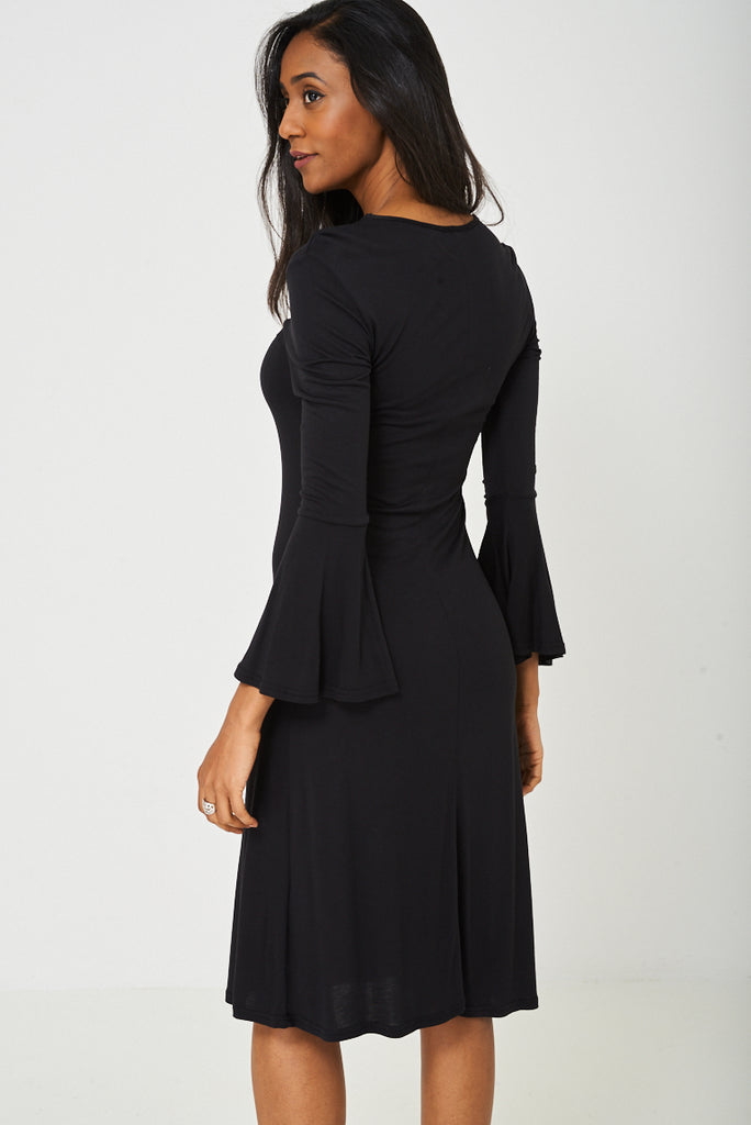 bell sleeve shift dress plus size