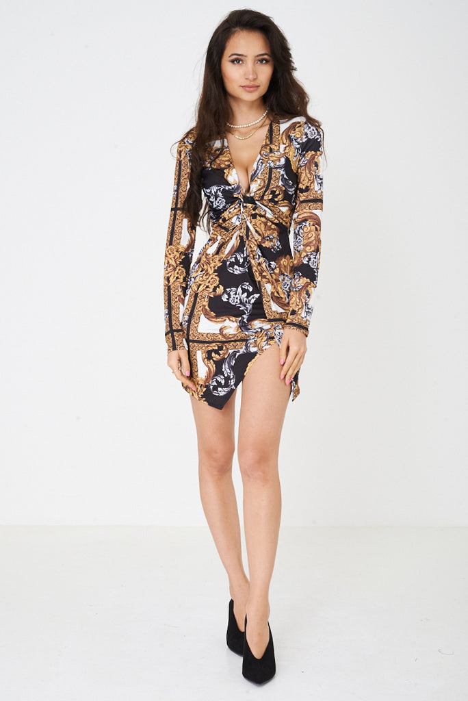 Baroque Print Versace Inspired Dress Ex Brand