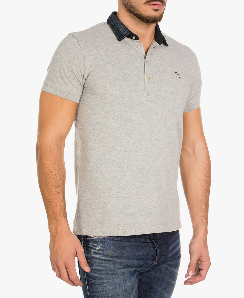 Diesel Basileus Cotton Polo Shirt in Navy Blue or Grey