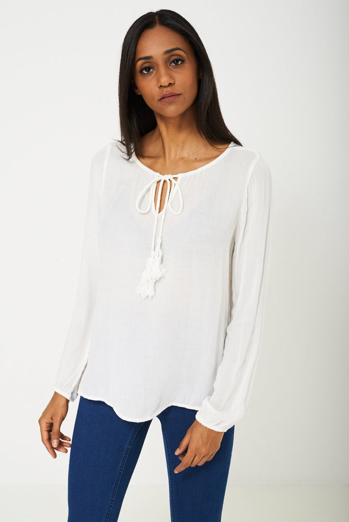 Bik Bok Lightweight Top In Cream