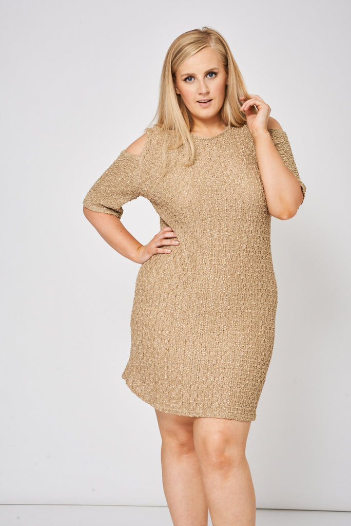 cold shoulder dress plus size