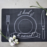 Ladelle Chalkboard Cork Placemats or Coasters